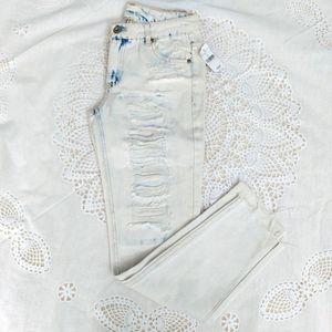 Wet Seal Bleach Distressed Jeans Sz 0